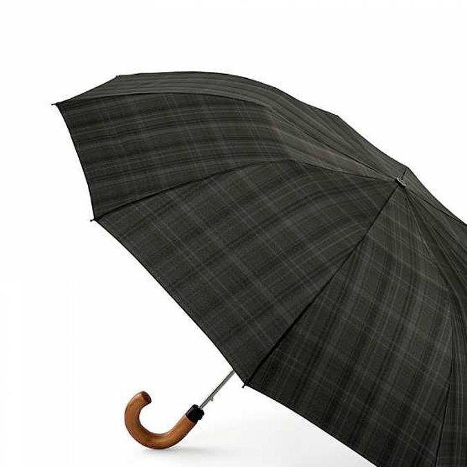 FULTON フルトン 傘 折りたたみ傘 ダルストン Dalston チャコールチェック メンズ 耐風 メンズ 強風 男性
