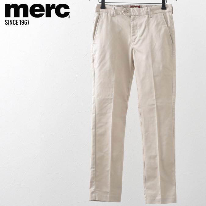 メルクロンドン メンズ トラウザー チノパン モッズ メルク ボトムス パンツ ズボン クリーム Merc London