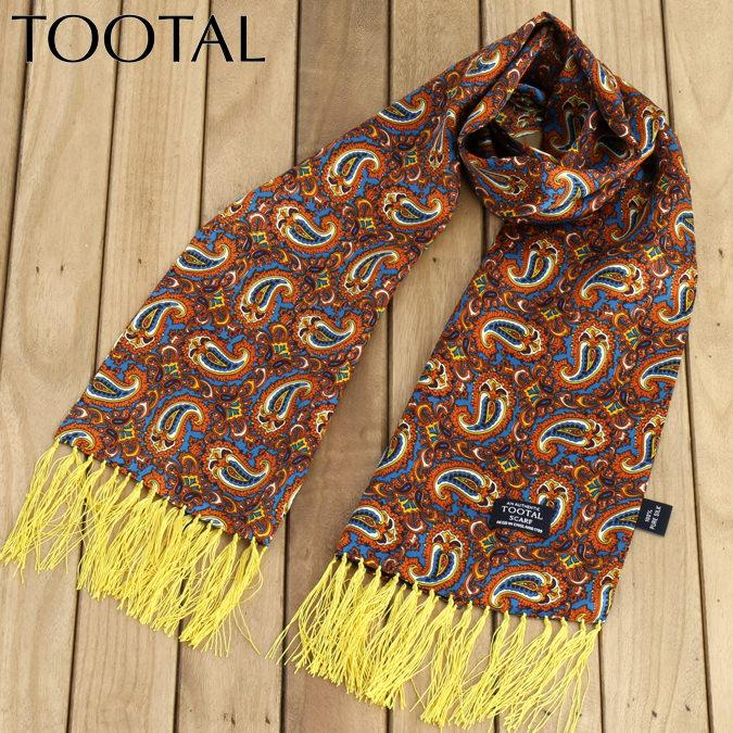 Tootal Vintage トゥータル ヴィンテージ シルクスカーフ ペイズリー オリジナル  カッパー