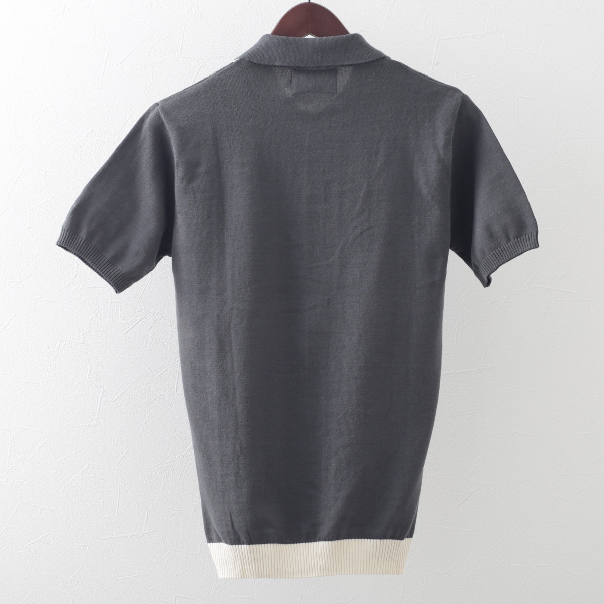 マッドキャップ メンズ ポロシャツ ニット ポロ ストライプ グレー Madcap England