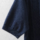 ポロシャツ ニット ケーブル 2色 ワイン ネイビー モッズ メンズ Merc London メルクロンドン
