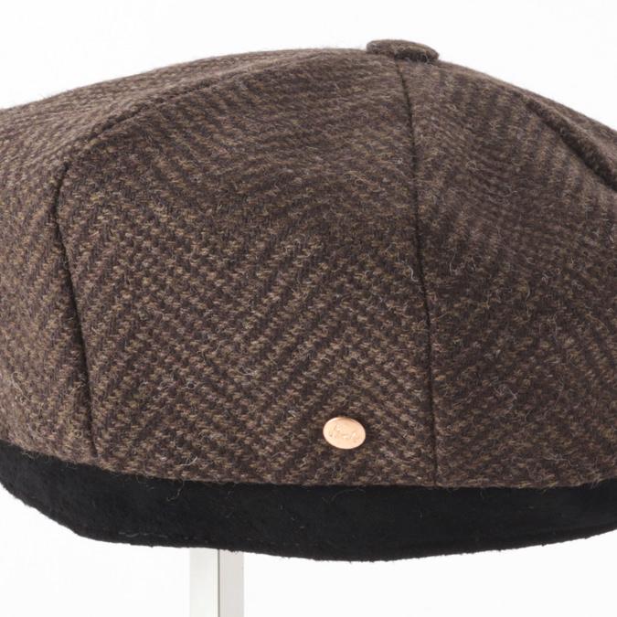 Laird Hatters メンズ キャスケット 英国製 ハンチング ウール ツイード ハンチング帽 レアードハッター Brooklyn Caps Herringbone ブルックリン 帽子 イギリス製 ハンドメイド ブラウン レディース モッズファッション 紳士