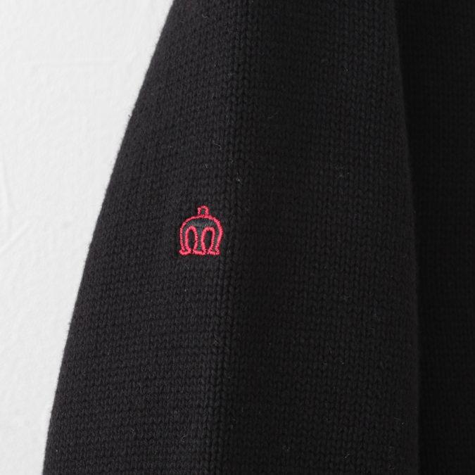 メルクロンドン メンズ カーディガン チェック ニット ジップスルー Merc London W1 プレミアム ブラックレッド