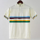 Madcap England メンズ ポロシャツ ポロ 19SS サイクリングポロ ブラック ホワイト レインボー レトロ マッドキャップ