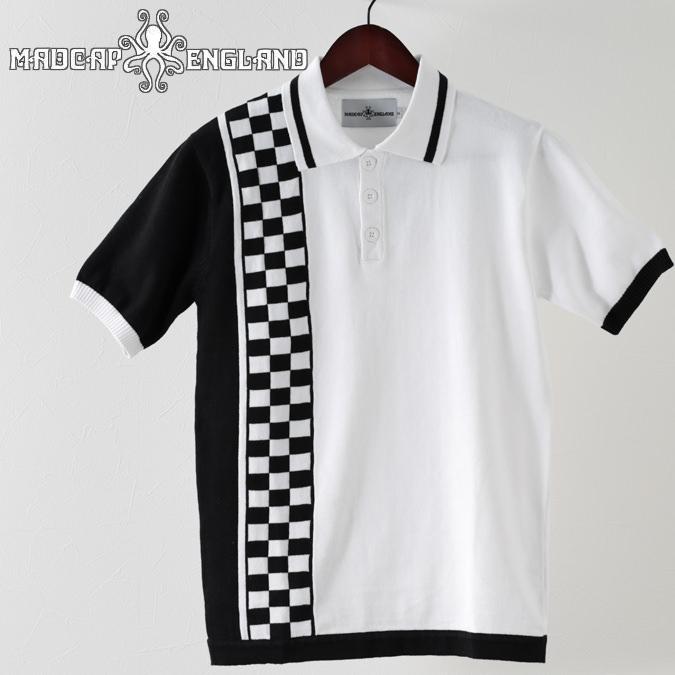 Madcap England ポロシャツ ポロ チェッカー チェック 19SS  マッドキャップ ホワイト