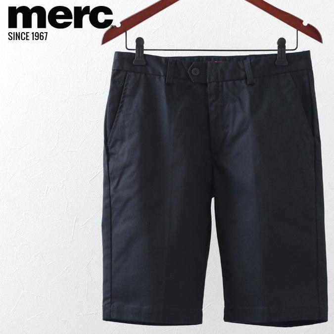 メルクロンドン メンズ ショーツ 短パン スタプレス Merc London W1 プレミアム ネイビー