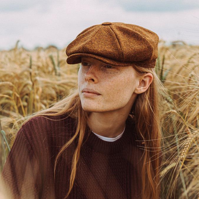 Laird Hatters メンズ キャスケット 英国製 ハンチング ウール ツイード ハンチング帽 レアードハッター Brooklyn Caps Hudson ブルックリン 帽子 イギリス製 ライトグレイ レディース モッズファッション 紳士