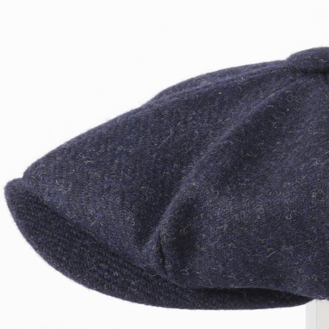 Laird Hatters メンズ キャスケット 英国製 ハンチング ウール ツイード ハンチング帽 レアードハッター Brooklyn Caps Hudson ブルックリン 帽子 イギリス製 ネイビー レディース モッズファッション 紳士