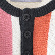 70年代風モッズファッション ニットTシャツ 半袖ニット レトロ ストライプ クリーム Madcap England マッドキャップ
