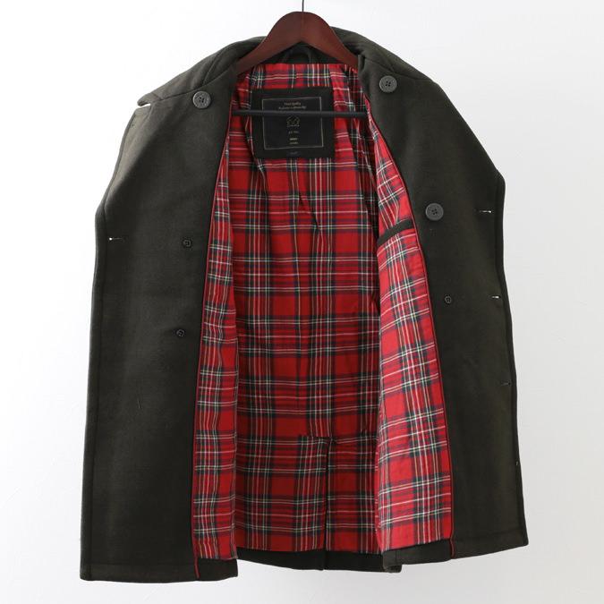 メルクロンドン メンズ ピーコート Merc London Pコート W1 プレミアム 19SS  3色 ダークネイビー ブラック ダークカーキ タータンチェック