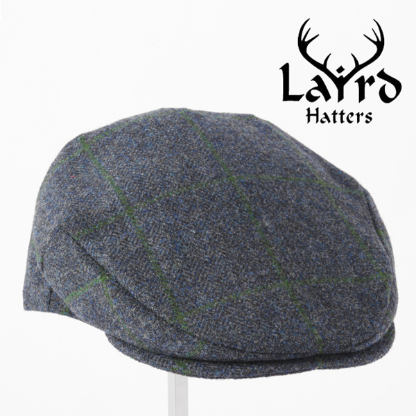 Laird Hatters メンズ キャスケット 英国製 ハンチング ウール ツイード ハンチング帽 レアードハッター Flat Cap Tweed フラットキャップ ツイード 帽子 イギリス製 ネイビー レディース モッズファッション 紳士