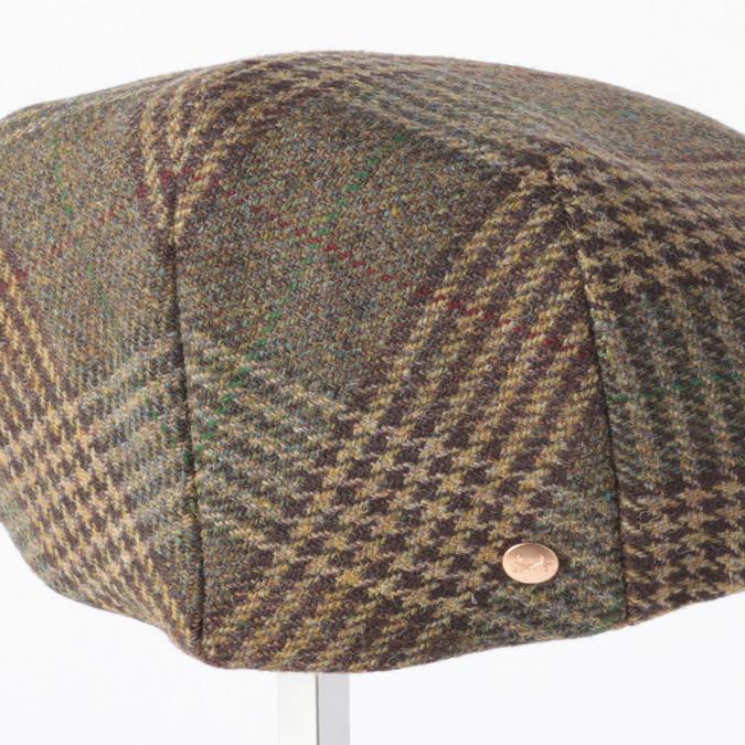 Laird Hatters メンズ キャスケット 英国製 ハンチング ウール ツイード ハンチング帽 レアードハッター Flat Cap Tweed フラットキャップ ツイード 帽子 イギリス製 プレイドグリーン レディース モッズファッション 紳士