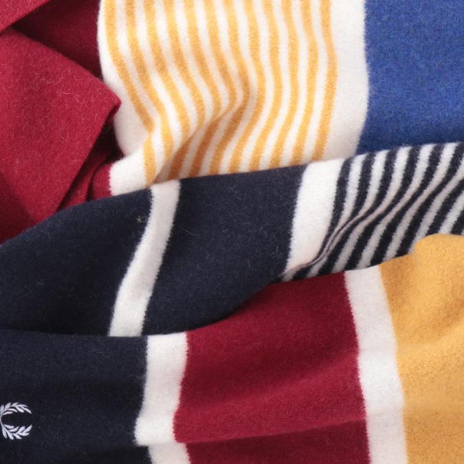 フレッドペリー メンズ マフラー スカーフ ウール カラーブロック 2色 グレーマール ネイビー 166×20cm 男女兼用  ユニセックス Fred Perry 正規販売店