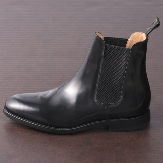 Loake England メンズ チェルシーブーツ サイドゴア シューズ ローク イングランド ブラック SHOEMAKERS 革靴 F 3E 290 ギフト