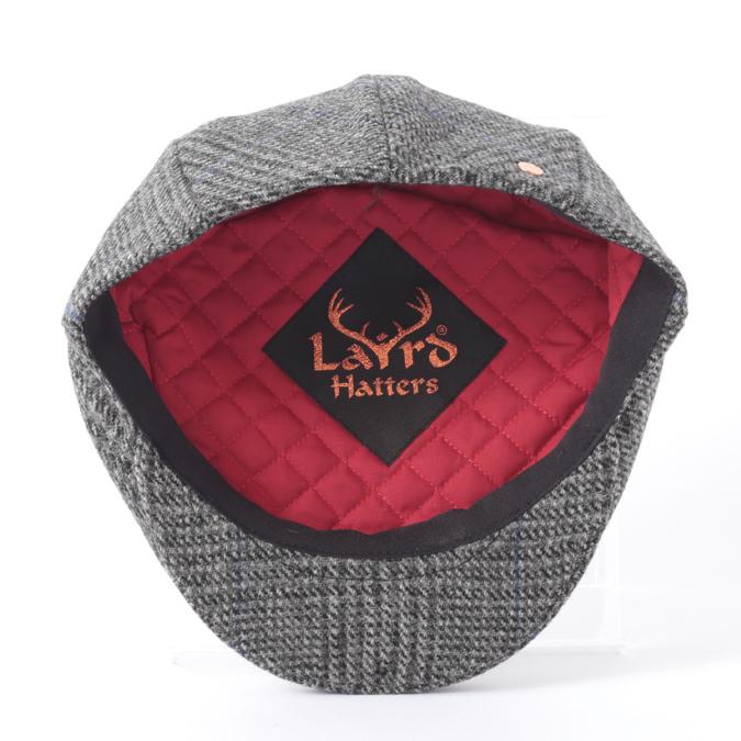 Laird Hatters メンズ キャスケット 英国製 ハンチング ウール ツイード ハンチング帽 レアードハッター Flat Cap Tweed フラットキャップ ツイード 帽子 イギリス製 プレイドグレー レディース モッズファッション 紳士