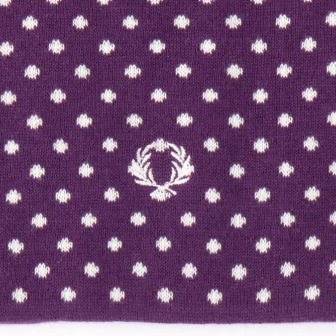フレッドペリー メンズ マフラー ミニマフラー リバーシブル 65.5×17.5cm ドット ワイン 男女兼用 ユニセックス Fred Perry 正規販売店