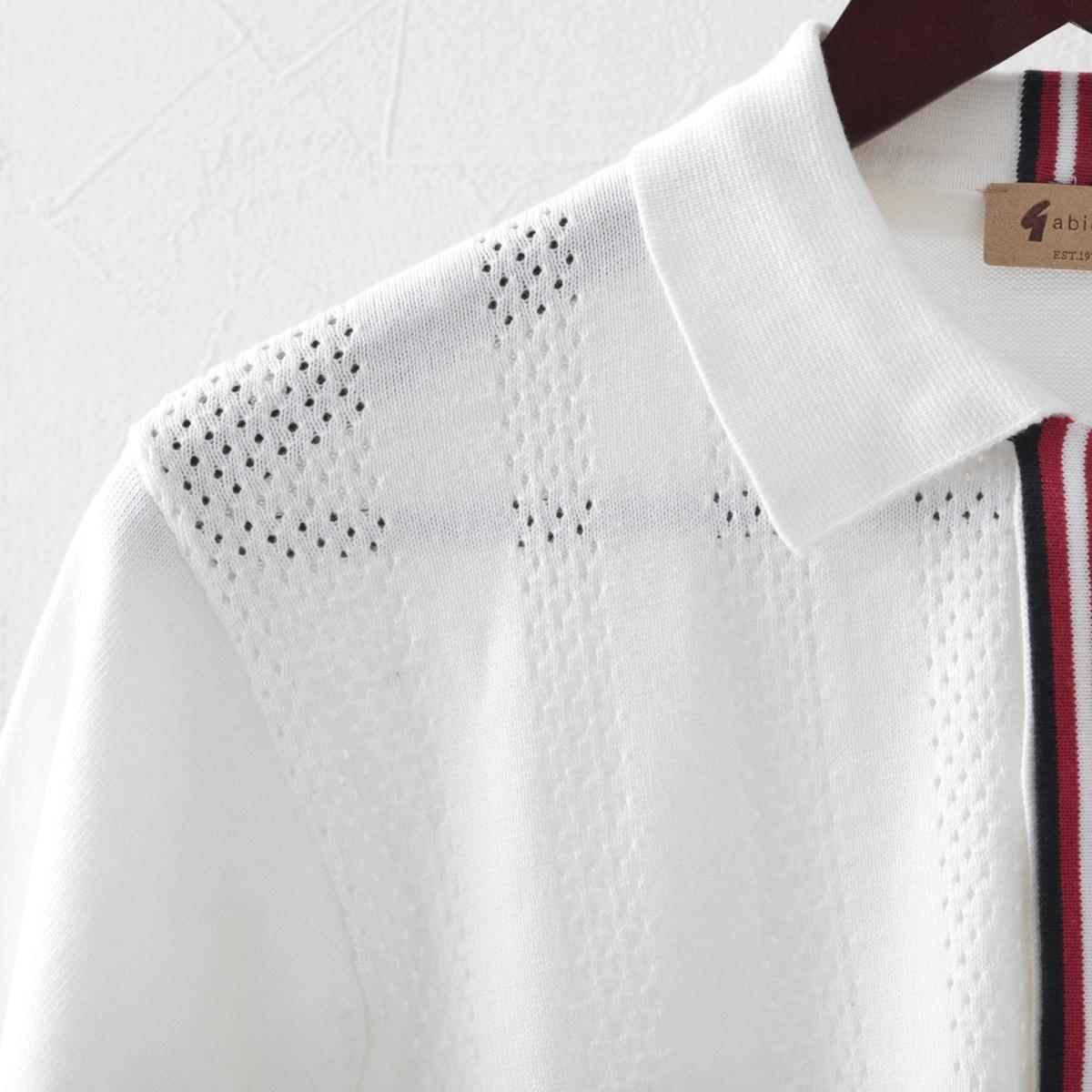 Gabicci メンズ ポロシャツ ポロ プラケット ガビッチ 4色 エルム ヘイ ネイビー ホワイト レトロ モッズファッション