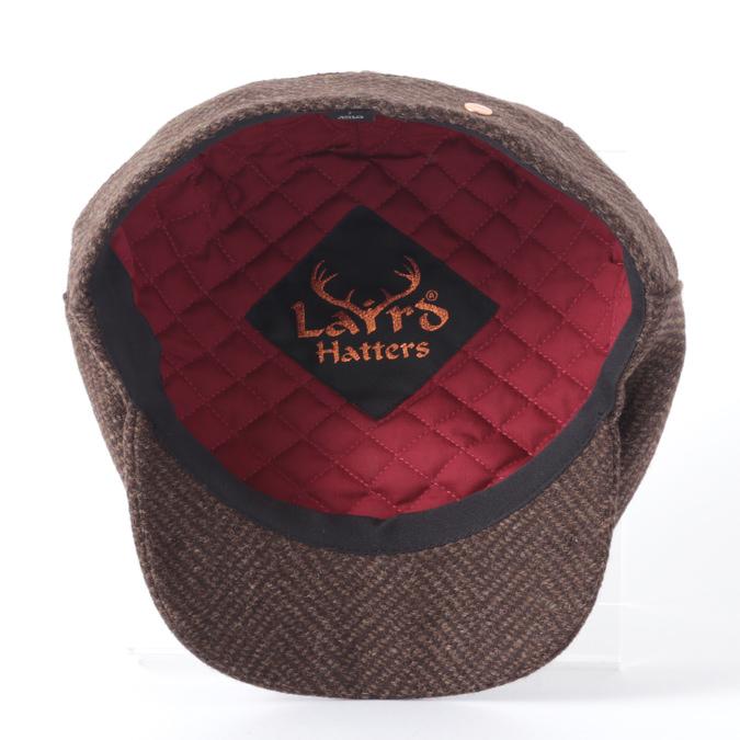 Laird Hatters メンズ キャスケット 英国製 ハンチング ウール ツイード ハンチング帽 レアードハッター Sicilian Caps Herringbone ヘリンボーン ツイード 帽子 イギリス製 Brew ブラウン レディース モッズファッション 紳士