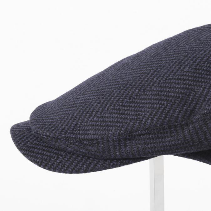 Laird Hatters メンズ キャスケット 英国製 ハンチング ウール ツイード ハンチング帽 レアードハッター Sicilian Caps Herringbone ヘリンボーン ツイード 帽子 イギリス製 ネイビーブラック レディース モッズファッション 紳士