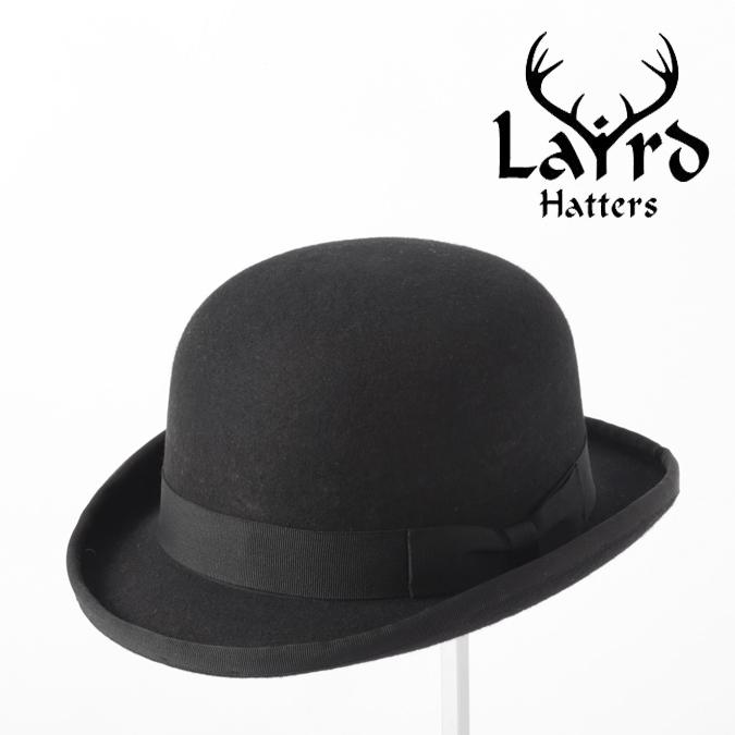 Laird Hatters メンズ ボーラーハット 英国製 ウールハット フェルトハット レアードハッター Bowler Hat 帽子 イギリス製 ブラック レディース モッズファッション 紳士