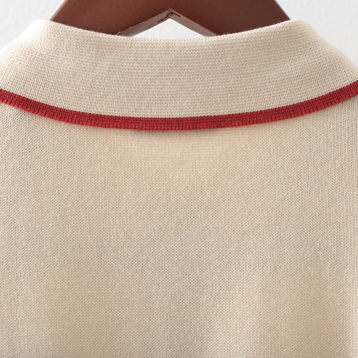 Gabicci メンズ ポロシャツ ポロ ティップライン ガビッチ 5色 コロン エルム ネイビー オート ホワイト レトロ モッズファッション