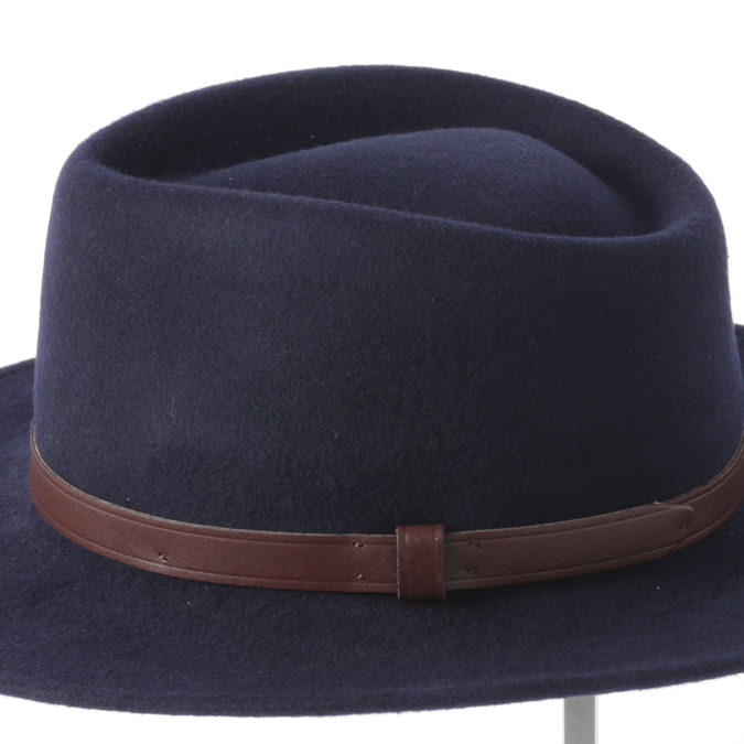 Laird Hatters メンズ フェドラハット 英国製 ウールハット フェルトハット レアードハッター 折り畳み可能 Country Crushable 帽子 イギリス製 ネイビー レディース モッズファッション 紳士