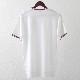 Gabicci メンズ Tシャツ シースルー ストライプ ガビッチ ホワイト レトロ モッズファッション