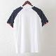 Tシャツ ラグランスリーブ ホワイト ネイビー モッズファッション メンズ Merc London メルクロンドン