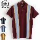 RELCO メンズ ポロシャツ ポロ レルコ レトロストライプ 4色 バーガンディー マスタード ネイビー スカイブルー