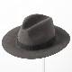 Laird Hatters メンズ フェドラハット ラビットウール 英国製 折り畳み可能 ウールハット フェルトハット レアードハッター Crushable Fedora 帽子 イギリス製 グレー レディース モッズファッション 紳士