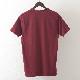 Tシャツ レコードプリント バーガンディ モッズファッション メンズ Merc London メルクロンドン
