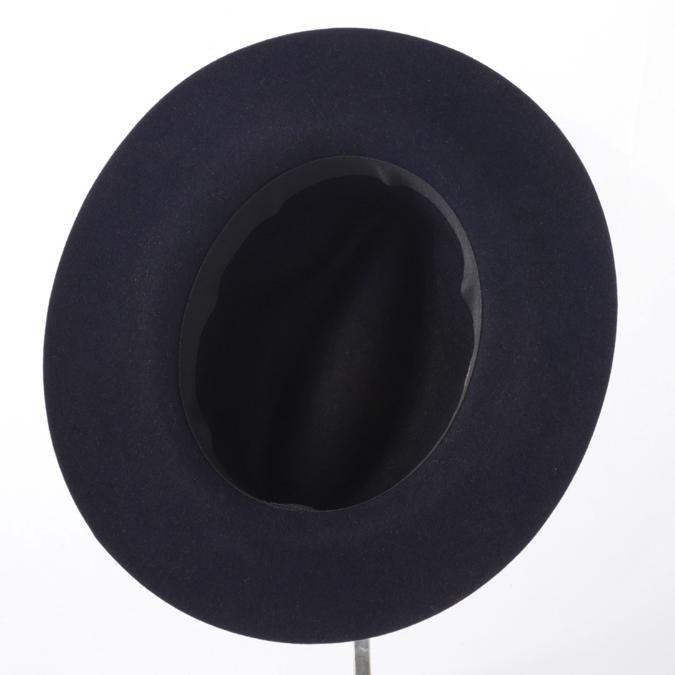 Laird Hatters メンズ フェドラハット ラビットウール 英国製 ウールハット レアードハッター 折り畳み可能 Crushable Fedora 帽子 イギリス製 ネイビー レディース モッズファッション 紳士