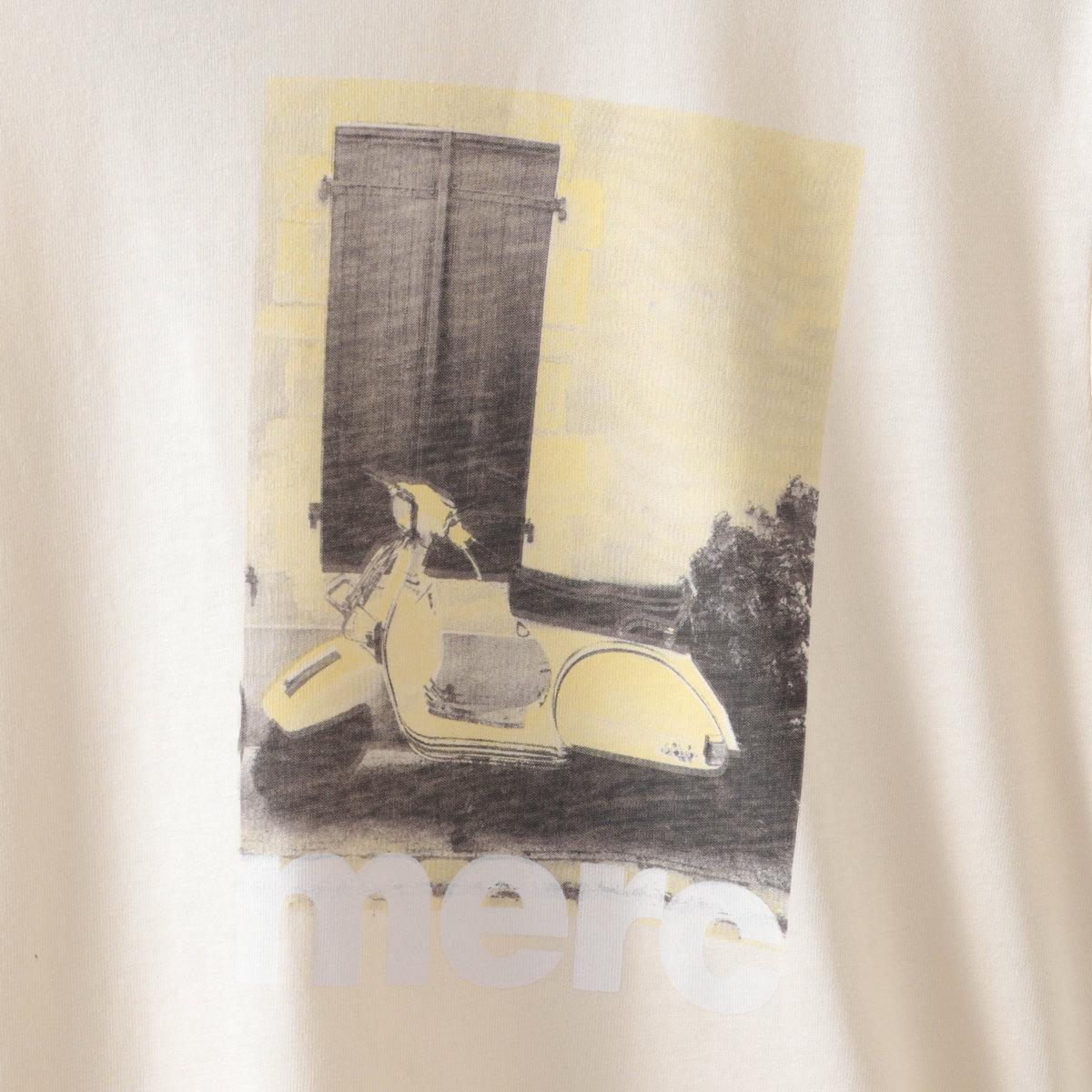 Tシャツ スクータープリント アイボリー モッズファッション メンズ Merc London メルクロンドン