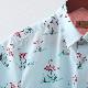 Gabicci メンズ 半袖シャツ ペイズリー チェック ガビッチ フラミンゴ シェード レトロ モッズファッション