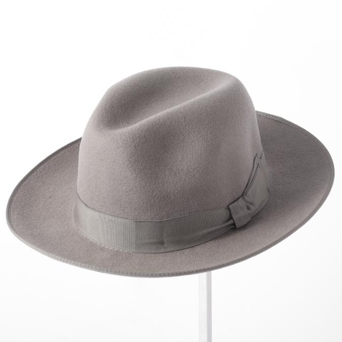 Laird Hatters メンズ トリルビーハット フェドラハット 英国製 ウールハット フェルトハット レアードハッター Harold Trilby 帽子 イギリス製 グレー レディース モッズファッション 紳士