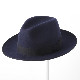Laird Hatters メンズ トリルビーハット フェドラハット 英国製 ウールハット フェルトハット レアードハッター Harold Trilby 帽子 イギリス製 ネイビー レディース モッズファッション 紳士