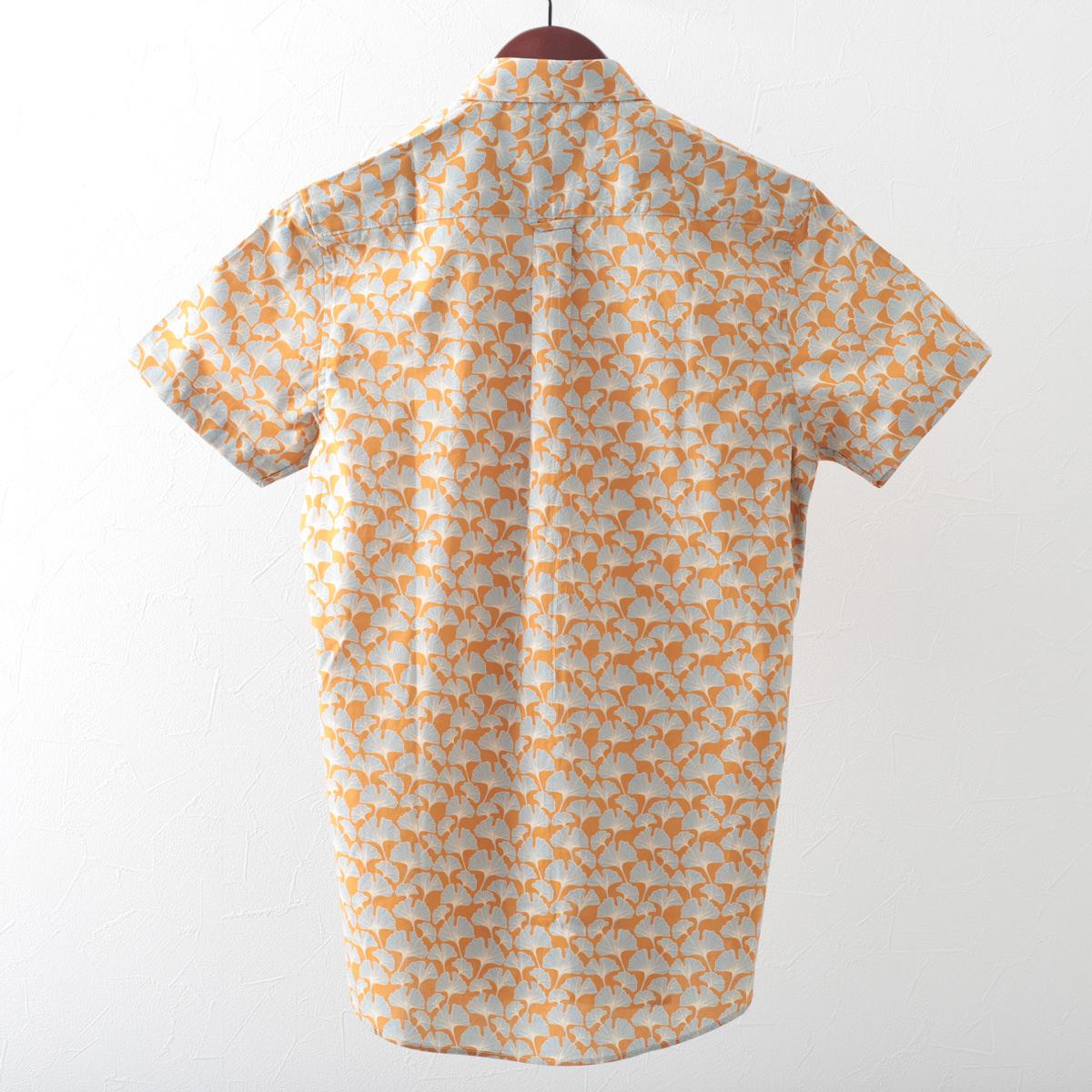 Gabicci メンズ 半袖シャツ イチョウ ガビッチ フレア レトロ モッズファッション