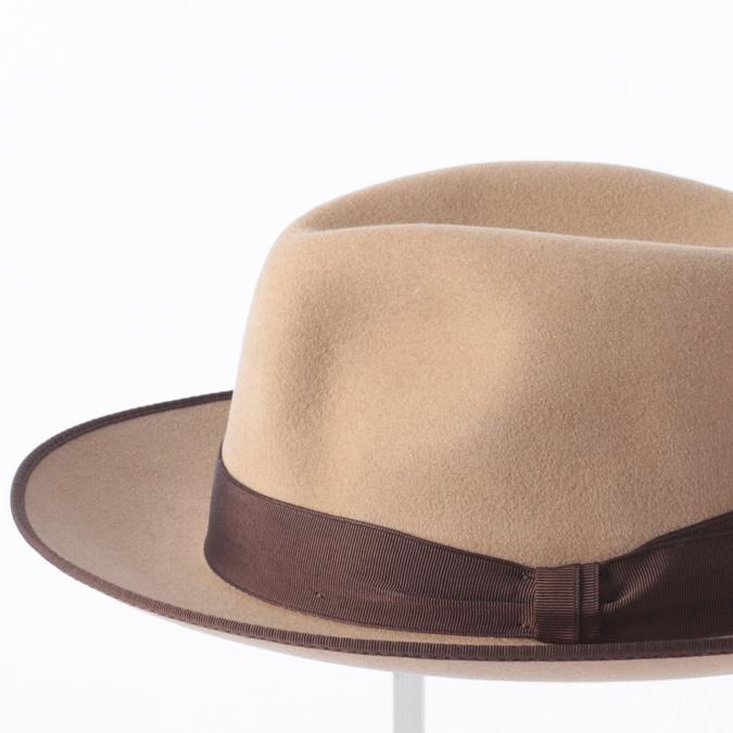 Laird Hatters メンズ トリルビーハット フェドラハット 英国製 ウールハット フェルトハット レアードハッター Harold Trilby 帽子 イギリス製 トープ レディース モッズファッション 紳士