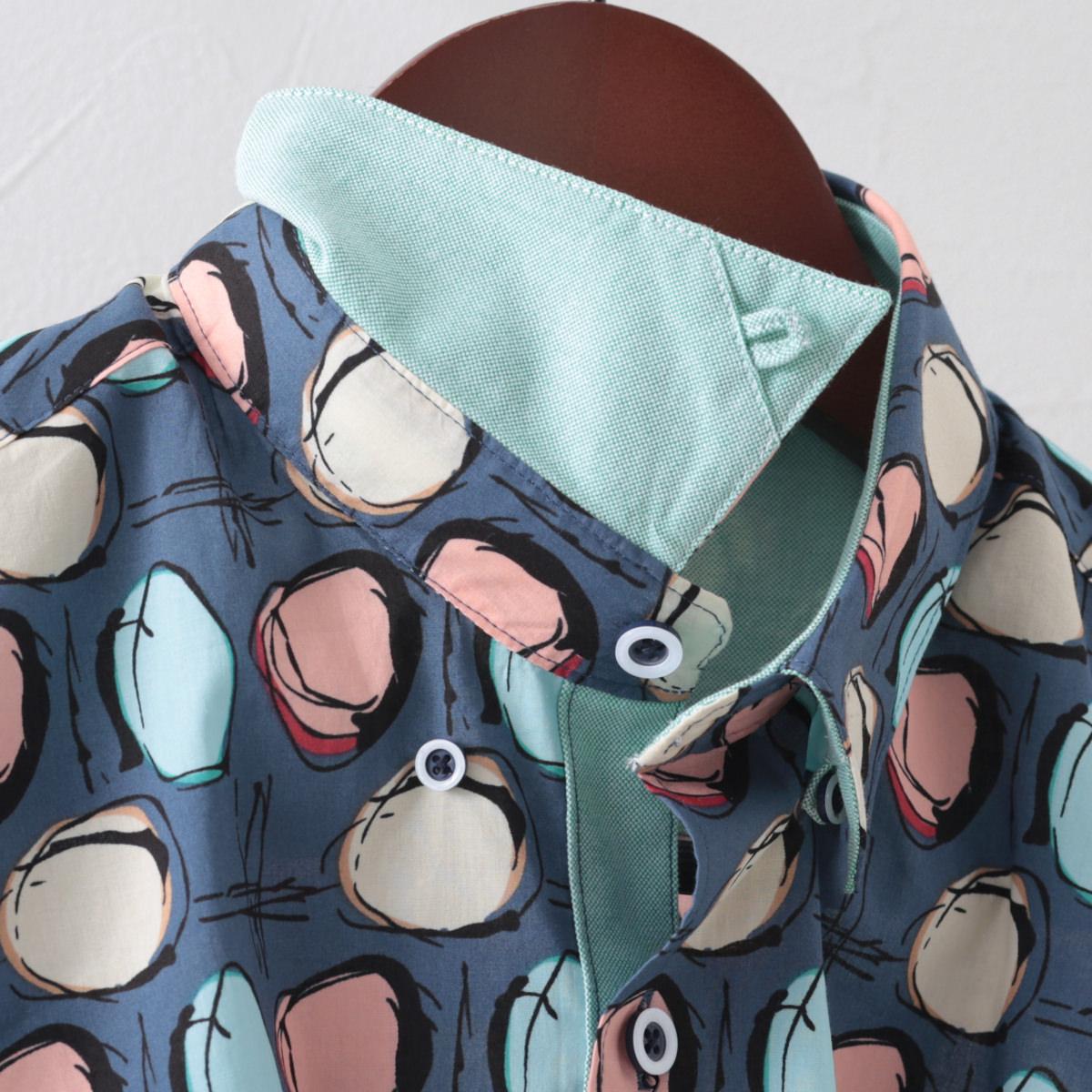 Gabicci メンズ 半袖シャツ サークル ガビッチ コロン レトロ モッズファッション