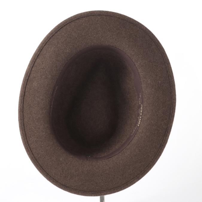 Laird Hatters メンズ フェドラハット ウールハット 英国製 フェルトハット レアードハッター Hunter Fedora 帽子 イギリス製 ブラウン レディース モッズファッション 紳士