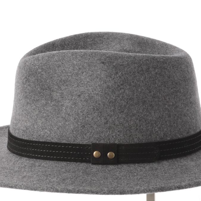 Laird Hatters メンズ フェドラハット 英国製 ウールハット フェルトハット レアードハッター Hunter Fedora 帽子 イギリス製 グレー レディース モッズファッション 紳士