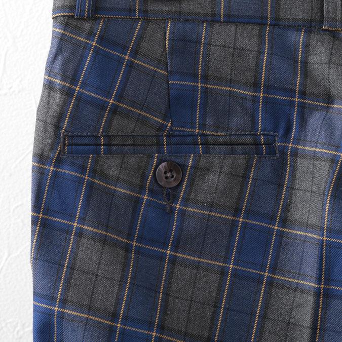 RELCO メンズ パンツ ボトムス チノパン レルコ トラウザー タータンチェック ブルー