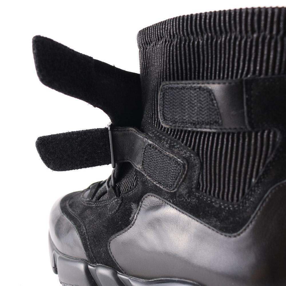 【雑誌掲載商品】<420024-2021>coca / コカ 厚底ボリュームソール ベルクロ ストレッチ スニーカー ショートブーツ ブラック