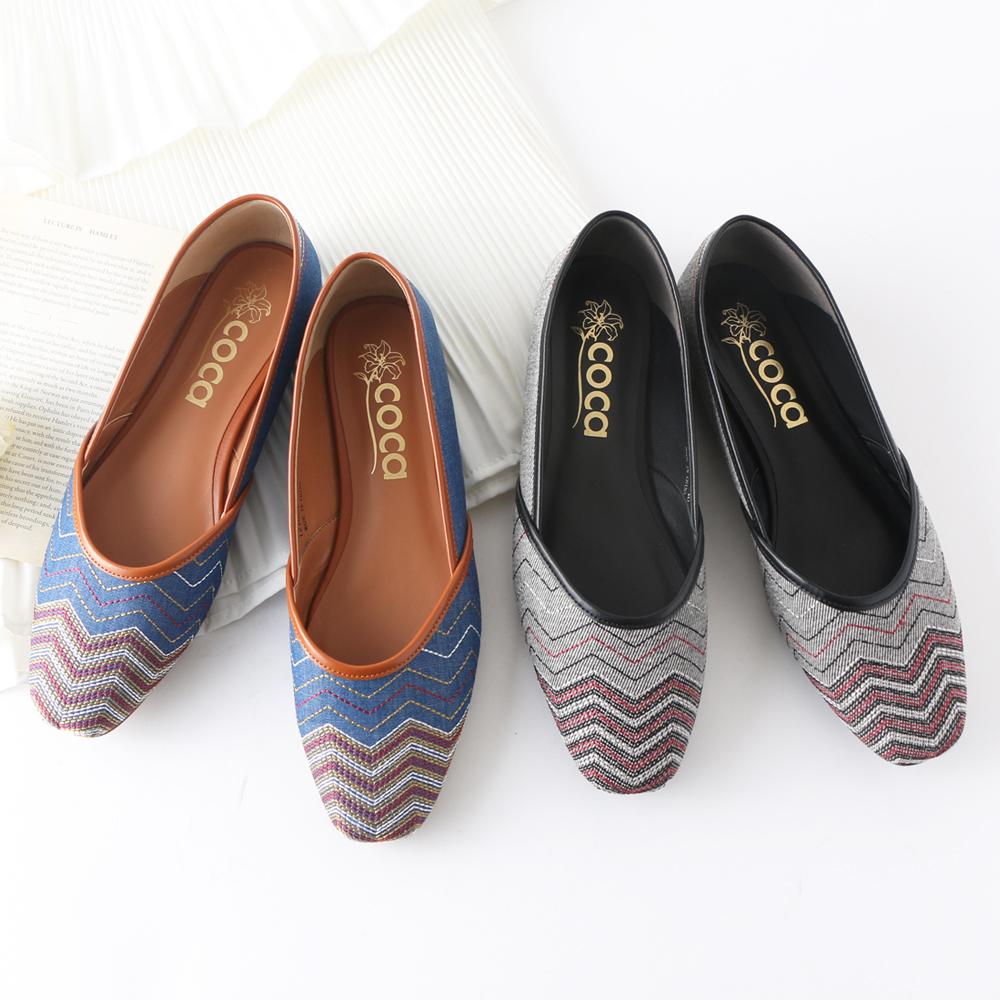 <121004-2111> coca / コカ エスニック ローヒール リラクシー パブーシュ 2WAY パンプス グレー