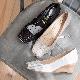 <121005-2111>  coca / コカ ドット柄 ターバンベルト ラメグリッター ウェッジヒール パンプス ホワイト