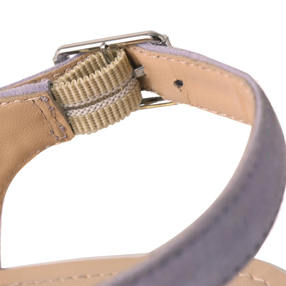 <120016-2011> coca / コカ レーザーカット 異素材MIX 7cm ウェッジソール オープントゥ サンダル パープル