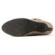 【60%OFF】<419012-1921> coca /  コカ サイド リボン 6.5cmヒール レザー ショートブーツ/ベージュ スエード 革