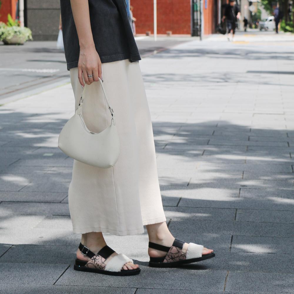 <121018-2111>coca / コカ ボア ダブルベルト 厚底 スポーツサンダル ピンク