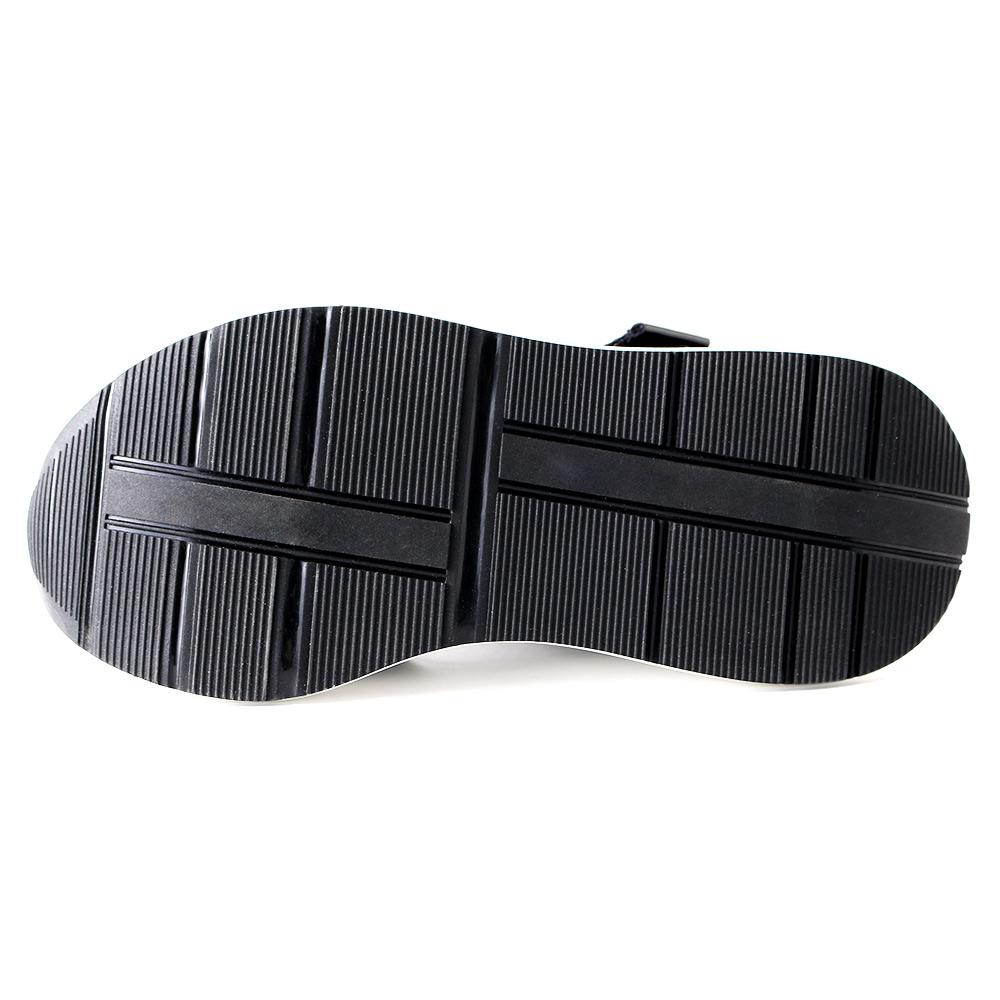 <121021-2111>coca / コカ ダブルベルト ビジュー 厚底 歩きやすい スポーツサンダル ブラック
