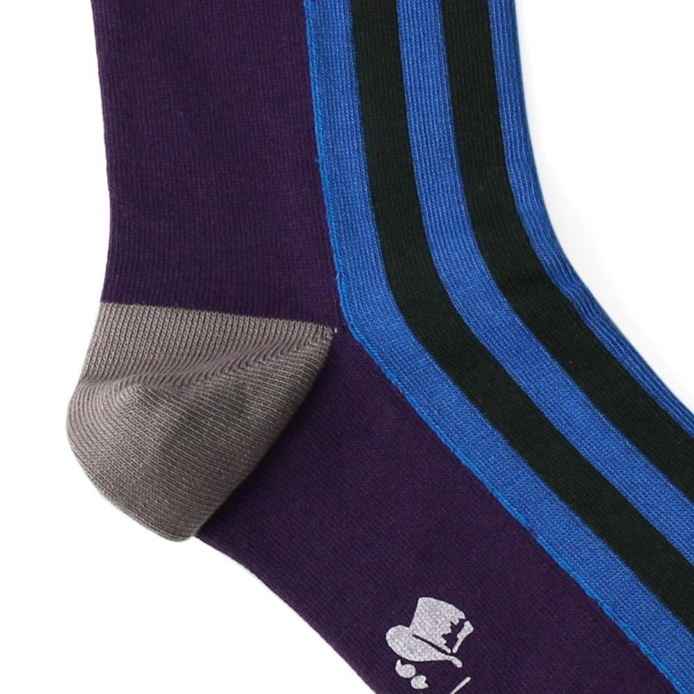 【プレゼントに♪】London Shoe Make THE SOCKS| No,417901 近衛兵/Guardsman 日本製 メンズソックス・ブルー